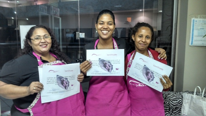 Alunas do curso de gel da Magic Nails