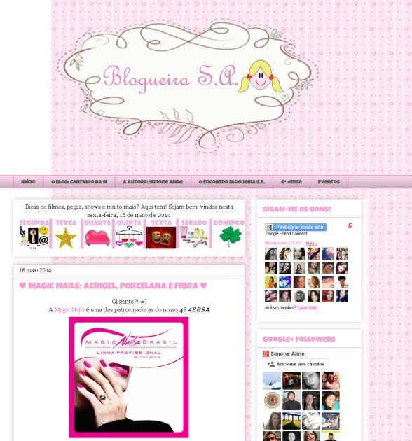 Blogueira S.A.  - MAGIC NAILS  ACRIGEL  PORCELANA E FIBRA -