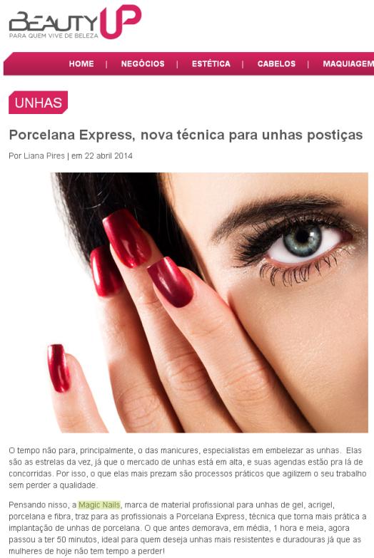 Porcelana Express  nova técnica para unhas postiças   Beauty UP