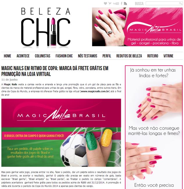 Magic Nails em ritmo de Copa  marca dá frete grátis em promoção na loja virtual   Beleza Chic
