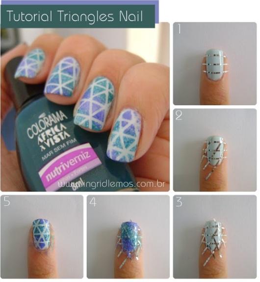 tutorial unhas triangulo