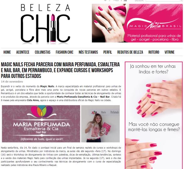 Magic Nails fecha parceria com Maria Perfumada, esmalteria e nail bar, em Pernambuco, e expande cursos e workshops para outros estados - Beleza Chic