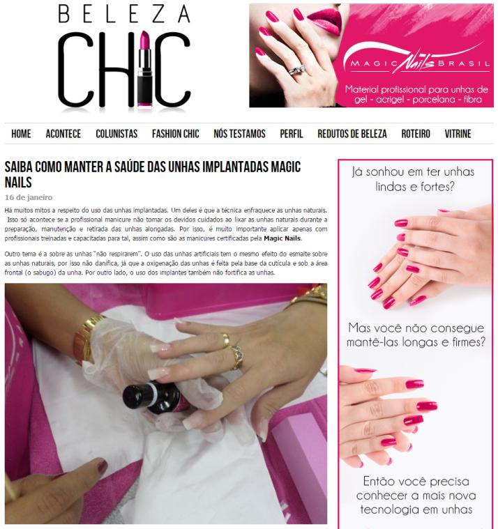 Saiba como manter a saúde das unhas implantadas Magic Nails - Beleza Chic