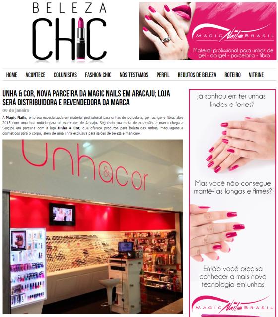 Unha   Cor, nova parceira da Magic Nails em Aracaju; loja será distribuidora e revendedora da marca - Beleza Chic